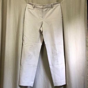 White House Black Market 6R Slim Ankle Pants Cream